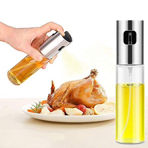 Oil Sprayer, Olive Oil Sprayer for Cooking,Olive Oil Spray Mister for Oil Versatile Glass Spray Olive oil bottle for Cooking,Vinegar Bottle Glass,For Cooking,Baking,Roasting,Grilling.