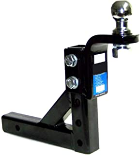 KCHEX2 Drop Hitch for 2 Receiver Trailer Ball Mount with 1-7//8 Hitch Ball SetHeavy Duty Steel Construction Fits All receivers with 2 Square Opening Drop 2 Length 8-1//4 Raise 3//4 Hitch