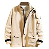 Allywit-Mens Lightweight Men's Cotton Military Jacket Casual Outdoor Windbreaker...