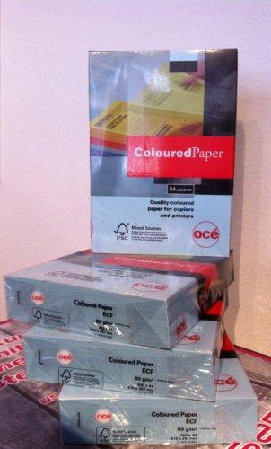 OCE 97002022A4(210× 297mm) blau Papier Tintenstrahldrucker–Papiere Tintenstrahldrucker (A4(210× 297mm), Universal, blau, 80g/m², 500Blatt)