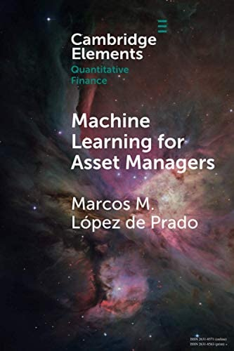 Machine Learning for Asset Managers Elements in Quantitative Finance product image