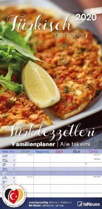Türkisch genießen - Familienplaner - Kalender 2020 - teNeues-Verlag - Familienkalender - Monatsplaner mit 5 Spalten, Stundenplänen und Rezepten - 23 cm x 45,5 cm