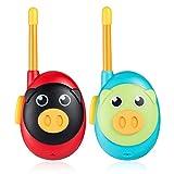 Jaybest Walkie Talkie, 2 Pack Walkie Talkie para Niños con Radio Bidireccional 1 Millas de Largo Alcance, Regalos para Niños de 3+ años. (Azul&Rojo)