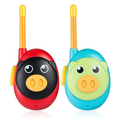 Jaybest 2X Walkie Talkies Set Kinder Funkgeräte 1KM Reichweite 8 Kanäle Walkie Talkie Kinder Geschenk Geeignet für Jungen und Mädchen