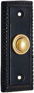 Adonai Hardware Rectangular Georgian Iron Bell Push or Door Bell or Push Button (Black Powdercoated)