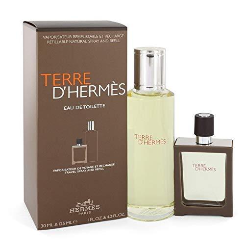 Hermès Terre Set Eau de Toilette nachfüllbares Travelspray, 30 ml mit Nachfüllung, 125 ml, 1er Pack, (1x 155 ml)