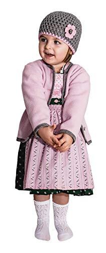 Trachten Jacke Rosa Grau Gr. 92-128 Baby Mädchen Kinder Strick Weste