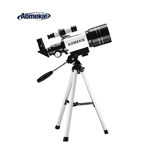 Telescopio refractor de astronomía Aomekie AO2009 AO2007 AO2001, para principiantes, alcance, con mochila y trípode ajustable