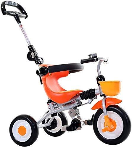 Cxjff Tout-Petits Enfants, Tricycle Kid Trike vélo léger Pliant Équilibre Walker avec Une clôture de sécurité avec Bell Boy Dossier et Fille