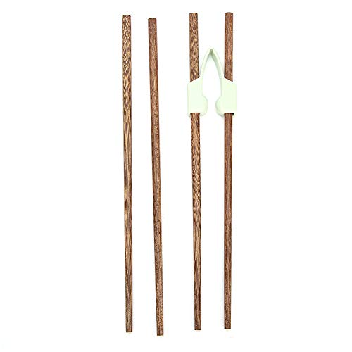 Bacchette per antiscivolo, ausili alimentari per anziani riutilizzabili Bacchette per addestramento per principianti, bacchette flessibili in legno per bambini adulti disabili