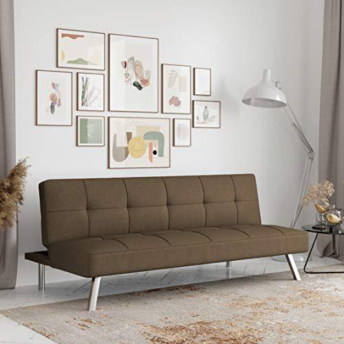 Serta Rane Collection Convertible Sofa, L66.1 x W33.1 x H29.5, Java