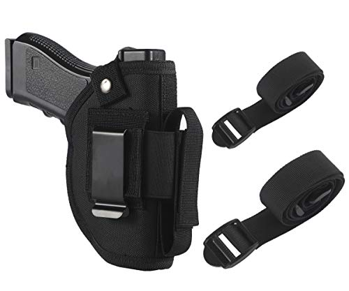 TACwolf Gun Holster Magazine Pouch for IWB OWB Concealed Carry Car Holster with Magazine Slot and 2 Strap Mounts for Right and Left Hand