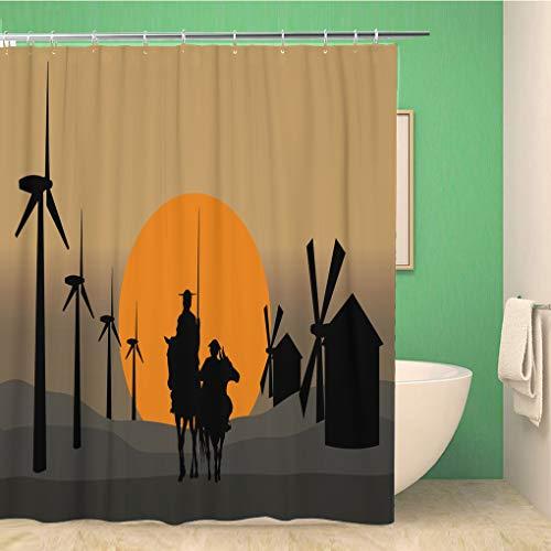 Cortina de ducha Silueta de Don Quijote