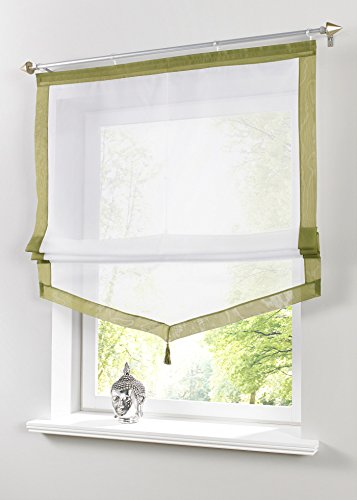 bonprix Raffrollo 60 x 240 Weiß Moos Rollo für Balkontüren Klettschiene