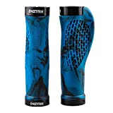 2 Pcs Bike Handlebar Grips Widen Holding Ergonomic Bicycle Grips Soft Rubber Double Locking Handle Grips CAMO for Bicycle Mountain BMX (Blue)