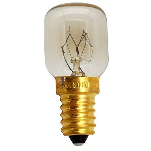 Générique Ampoule de Four Petite Bouche à vis Ampoule à Micro-Ondes Résistance aux Hautes températures Accessoires d'ampoule de Four en cuivre en Laiton - Jaune et Blanc - Tête en Laiton avec 25W