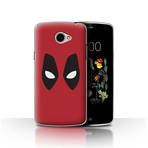 Hülle Für LG K5/X220 Superheld Comic-Kunst Deadpool Maske Inspiriert Design Transparent Ultra Dünn Klar Hart Schutz Handyhülle Hülle