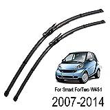 Xukey Set di 2 spazzole tergicristallo anteriori, 58,4 cm e 53,3 cm (compatibilità non garantita con veicoli con guida a sinistra)