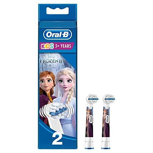 Oral-B Stages Power Aufsteckbürsten Die Eiskönigin für elektrische Kinderzahnbürsten, 2Stück (Produkt kann von Abbildung abweichen)