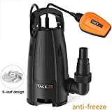 TACKLIFE Submersible Anti-Freeze Water Pump, 400W 9000 L/h Clean Dirty Water, 8-Blade impellers