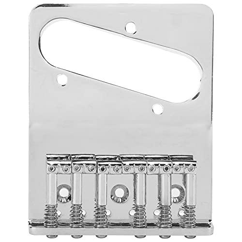 Tailpiece Guitars, Silver 10x8x2cm Durable Saddle Bridge com chave sextavada para instrumento