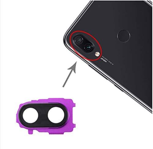 Cristal trasero de repuesto para lente + marco de cámara trasera compatible con Xiaomi Redmi Note 7 / Note 7 PRO / M1901F7E M1901F7C M1901F7 (Violeta)