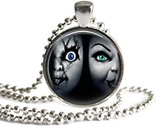 Bride of Chucky 1 Inch Silver Plated Picture Pendant Necklace