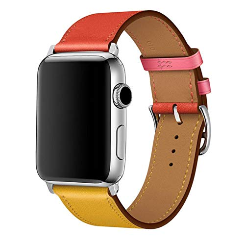 Colorful Leather loop for Apple Watch Band Series 6/SE/3/2/1 Sport Bracelet 42mm 38mm Strap for iwatch 4/5 Band 40mm 44mm