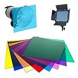 BAN SHUI JU MINSU GUANLI Universal 12'/ 30CM 8 Colores Set Paquete De Hoja De Gel Corrección De Color Transparente Filtro De Gel Ligero (Color : A)