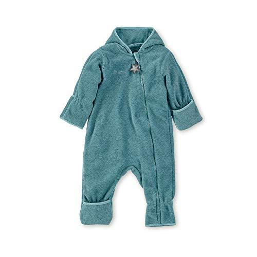 Sterntaler Fleece-Overall für Jungen und Mädchen mit Reißverschluss, Alter: 9-12 Monate, Größe: 80, Türkis