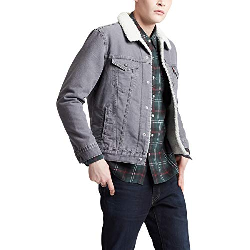Levi's Red Tab Type 3 Canvas Sherpa Jacket Small Magnet Grey