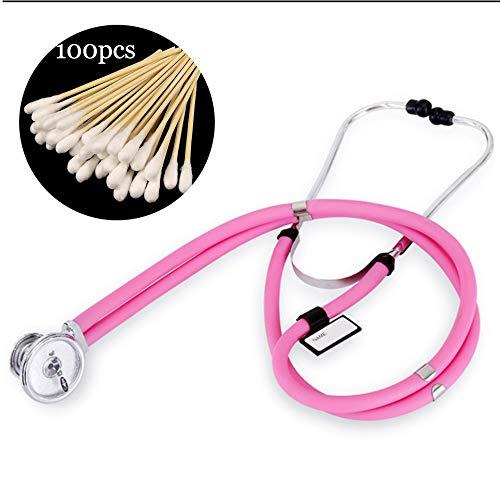 Fall Stethoskop, Premium Dual Head Stethoskop, for Doktor Nurse Vet Student Health Care sehr leicht und einfach zu bedienen (Color : Pink)