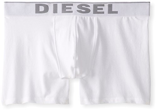 Diesel Men's Sebastian 3-Pack Essentials Boxer Brief, White, L