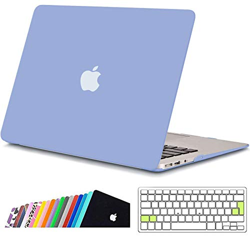 iNeseon MacBook Air Funda de 13 Pulgadas (Modelo A1466 A1369), Protectora Rígida Carcasa con Cubierta de Teclado para MacBook Air 13 2010-2017 (Tamaño 32.5 x 22.7cm), Azul Serenidad