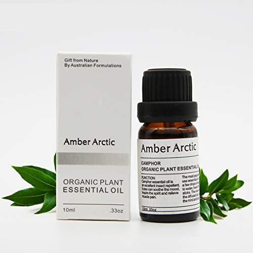 AMBER ARCTIC Alcanfor Aceite Esencial Para Difusor, Aceite de Alcanfor 100% Puro Y Orgánico Fresco Para Terapia de Plantas 10Ml / 0.33Oz