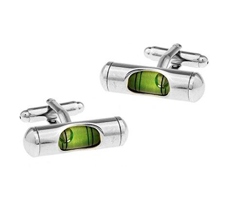 Ducomi Linea Lusso Gemelli da Polso in Argento e Oro Placato - Gemelli Uomo Ultraleggeri per Camicia - Originali di Alta qualità - Idea Regalo Modello Dispositivo