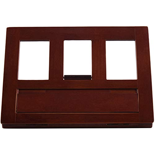 Gesh Foldable Wood Reading Frame Tablet Stand Portable Bookshelf Cookbook Holder Music Folder Wooden Laptop Tablet Stand Holders
