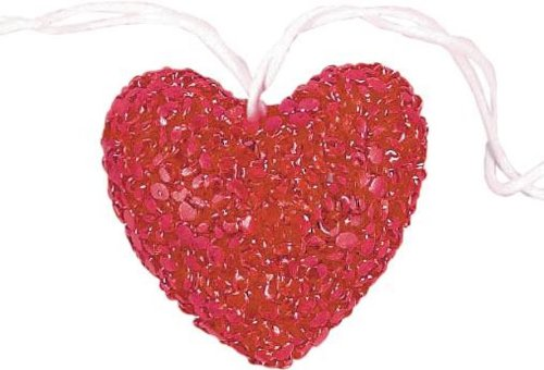Valentine Red Heart Plastic Light Set | Party Decoration, 1ct