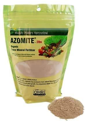 Handy Pantry 2 Lbs of Azomite - OMRI Organic Trace Mineral Soil Additive Fertilizer Brand - 67 Trace Minerals: Selenium, Vanadium, Chromium