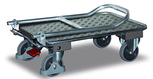Aluminium Klappbügelwagen Traglast (kg): 150 Ladefläche: 900 x 600 mm RAL 9006 weißaluminium