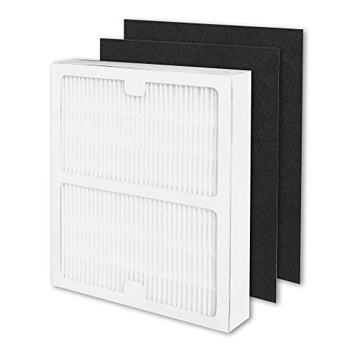 YiL Air Purifier Filters Replacement for Idylis,Compatible with Idylis Type A, Fit Idylis AC-2119, IAP-10-100, IAP-10-150, IAPC-40-140, Model # IAF-H-100A,Includes 1 HEPA Filter & 2 Carbon Filters