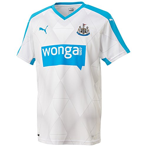 PUMA Herren Trikot Newcastle Alternate Replica Shirt with Sponsor, White, Hawaiian Ocean, XXL