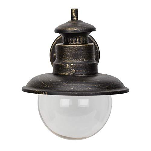 Brilliant Artu Außenwandleuchte hängend spritzwassergeschützt schwarz gold Glas, 1x E27 geeignet für Normallampen bis max. 60W