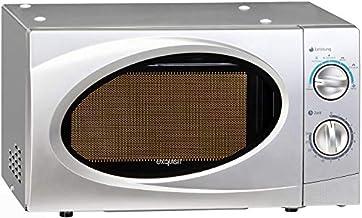 Exquisit WP700j17B-2 Encimera 17L 700W Plata - Microondas (Encimera, 17 L, 700 W, Giratorio, Plata, Botón)