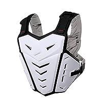 レーシング西、脊椎バックプロテクターの胸当て保護ギアマウンテンバイクオートバイモトクロスアクセサリーオートバイ鎧の防御レースオフロードバイクのジャケットの衣装ボディー,白