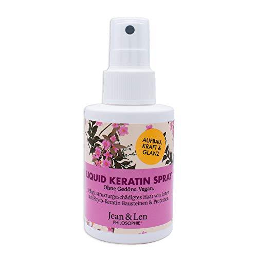Jean & Len Philosophie Spezial Haarpflege Liquid Keratin Spray, pflegt strukturgeschädigtes Haar von innen, verleiht dem Haar neuen Glanz, 100 ml, 1 Stück