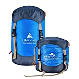 Hikenture Sleeping Bag Stuff Sack,Tear- Resistant Nylon Sleeping Bag Compression Sack, 10L/14L/20L/30L Water-Resistant Compression Bag,Outdoor Storage Bag for Backpacking,Hiking,Camping and Travel