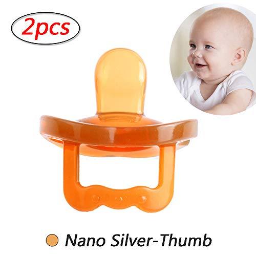 Fopspenen Baby, Best fopspeen voor baby's die borstvoeding Soft Silicone fopspeen voor baby's 0-24 maanden Baby Boy Fopspenen 2Pcs