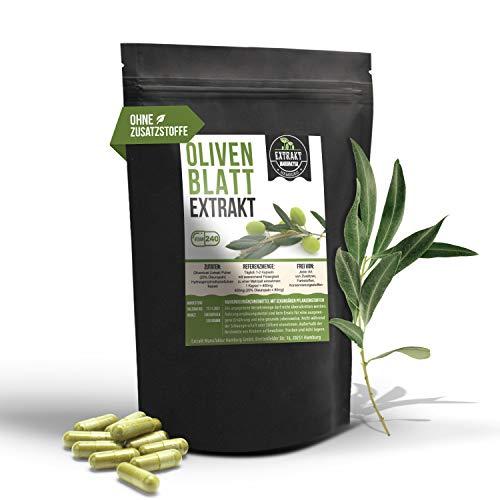 Olivenblatt EXTRAKT | 20% Oleuropein | 240 KAPSELN 400mg | ohne Zusatzstoffe und laborgeprüft | olive leaf extract | hochdosiert 100% vegan & in Deutschland hergestellt. (Kapseln 240)