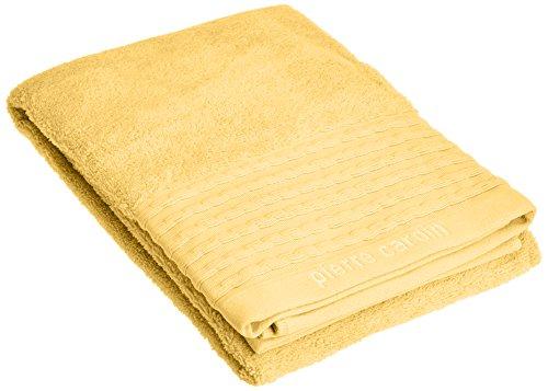 Toalla amarilla de algodón Peinado, 36x23x0.6 cm
